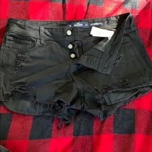 Like new black boyfriend Hollister shorts